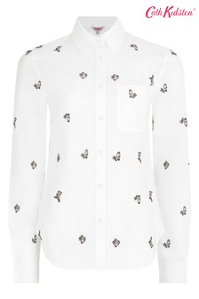 Cath Kidston® Cream Jumping Bunnies Embroidered Shirt