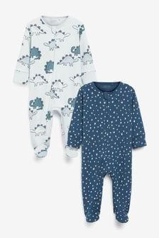 2 Pack Zip Sleepsuits (0-3yrs) (236421) | $21 - $24