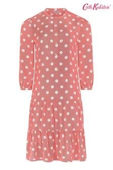 Cath Kidston® Red Button Spot A-Line Dress