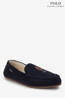 Polo Ralph Lauren Mens Dezi V Bear Slippers