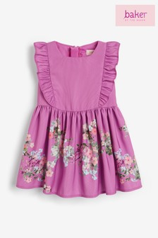 Baker by Ted Baker Girls Floral Ruffle Dress