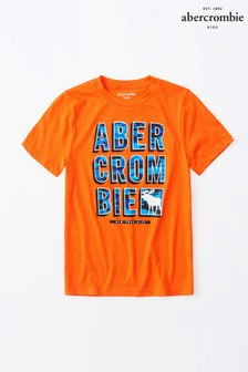 Abercrombie & Fitch Orange Logo T-Shirt