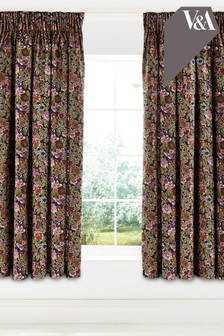 V&A Hawards Garden Lined Eyelet Curtains
