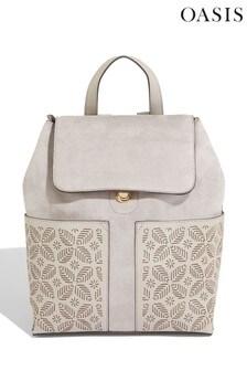 Oasis Grey Laser Cut Backpack
