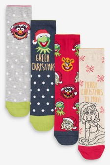Christmas Muppet Ankle Socks 4 Pack