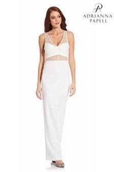 שמלת ערב צמודה מקרפ של Adrianna Papell דגם Illusion