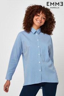 Emme by Marella Blue Pau Oversized Shirt