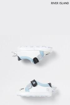 River Island White Shark Trainers