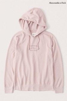 Abercrombie & Fitch粉色標誌連帽上衣