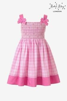 Rachel Riley Kariertes Kleid, Pink