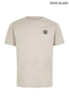 Tričko s výšivkou loga River Island