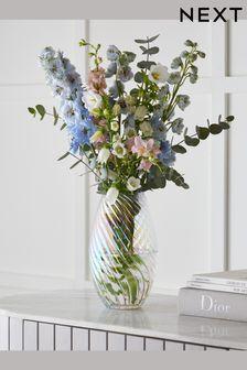 Lustre Twisted Glass Vase