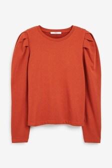Volume Sleeve Comfort Sweatshirt
