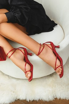 Toe Post Ankle Wrap Sandals