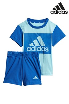 adidas Infant BOS Crew Neck T-Shirt and Short Set