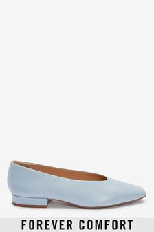 Signature Leather Chisel Toe Ballerinas