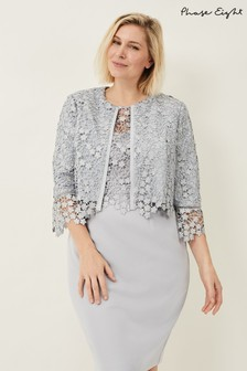 Phase Eight Mineral Mariposa Lace Jacket