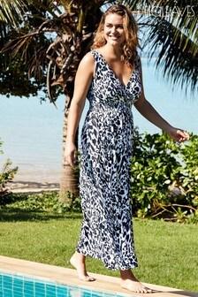 Rochie lungă cu imprimeu animal Figleaves Singita