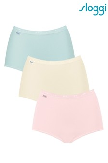 Sloggi Pink Basic Maxi Briefs Three Pack