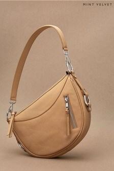 Mint Velvet Cecelia Camel Leather Hobo Bag
