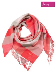 Joules Pink Wilstow Triangle Scarf