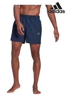 شورت سباحة ألوان سادة 3 خطوط من adidas