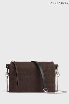 AllSaints Brown Fletcher Crossbody Bag