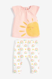 Sunshine T-Shirt And Leggings Set (أقل من شهر - سنتين)
