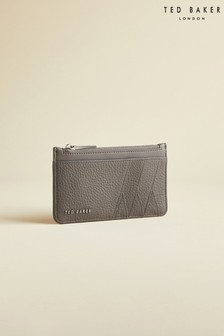 Ted Baker Grey Allexaa Leather Zip-Up Card Holder