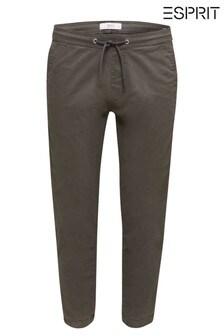 Esprit Grey Woven Cuff Chinos
