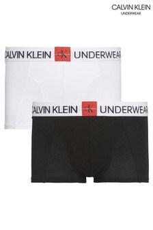 Набор черных трусов-боксеров с монограммой Calvin Klein (2 шт.)