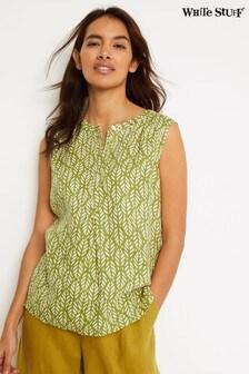חולצת ג'רזי ירוקה דגם Chutney של White Stuff