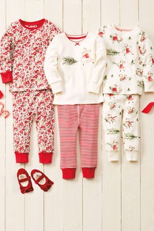 3 Pack Winter Mouse Snuggle Pyjamas (9mths-8yrs)