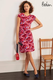 Boden Red Amelie Jersey Dress