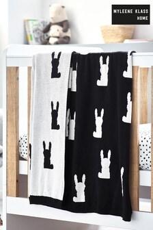 Myleene Klass Monochrome Bunny Knitted Throw