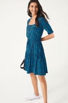 Чайное платье мини