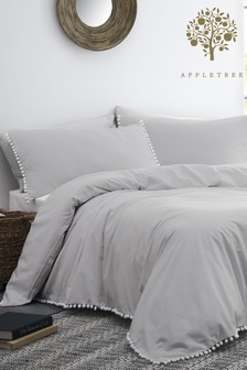 Appletree Lynton Pom Pom Duvet Cover and Pillowcase Set