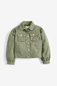 Джинсовая куртка с пышными рукавами (3-16 лет)