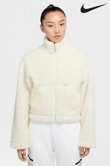 Куртка из искусственного меха с логотипом Nike