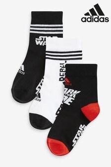 adidas Star Wars 中筒襪子3 雙裝