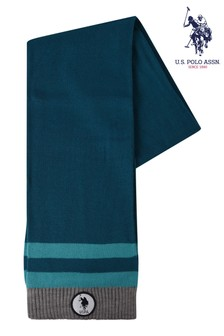 U.S. Polo Assn. Blue Tipping Scarf