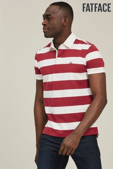 FatFace Vermillion Stripe Rugby Top