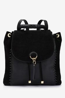 Leather Whipstitch Rucksack