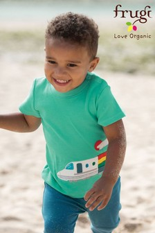 Frugi GOTS Organic Train Appliqué T-Shirt