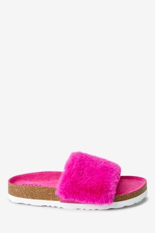 Faux Fur Corkbed Sliders (Older)