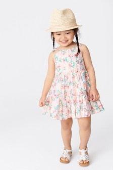 Vrstvené letné bavlnené šaty (3 mes. – 7 rok.)