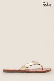 Boden Gold Harriet Flip Flops
