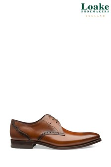 Loake Tan Leather Hannibal Derby Shoes