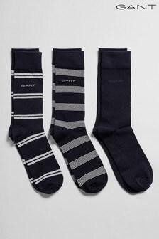 GANT Grey Mixed Sock Three Pack