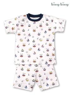 Белая пижама с принтом корабликовKissy Kissy
